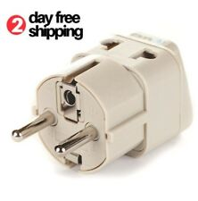 Electric Power Adapter for Europe Plugs Usa to Eu American Travel Charger Outlet