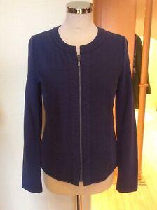Olsen Soft Jacket Size 10 BNWT Blue Collarless RRP £109 Now £49