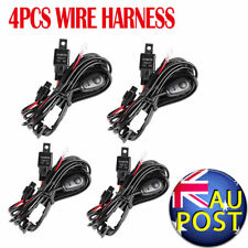 4pcs LED Wire Harness Work Light Bar Wiring Loom Switch Relay Kits 4X4 4WD SUV