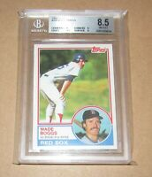 1983 Topps #498 Wade Boggs BGS 8.5 NM-MT+ Fast Shipping!