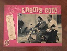 FOTOBUSTA 1951,ANEMA E CORE MARIO RIVA BILLI TAGLIAVINI MOTO VESPA PIAGGIO