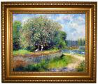 Renoir Chestnut in Blossom 1881 Framed Canvas Print Repro 16x20