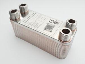 B3-12-30 Plattenwärmetauscher mit 4x3/4 Zoll Anschluss Wärmetauscher Heizung pöl