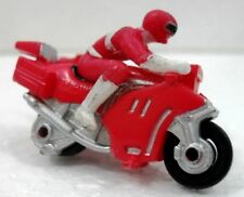 "POWER RANGERS MIGHTY MORPHIN ""RED ranger in CAR"" plastica cm. 3x4,5 SABAN 1997"