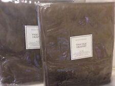 Restoration Hardware 2 Thai Silk Solid Drapery 50x84 Flax NWT! Brown