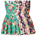 Womens Vintage Floral Swing 50s 60s Pin up Housewife Short Prom Party Tea Dress