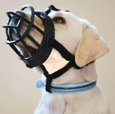 Baskerville Ultra Adjustable Padded Dog Muzzle Plastic Basket BLACK