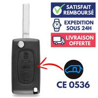 Boitier 3 Boutons Télécommande Plip Coque pour Clé PEUGEOT Partner - CE0536