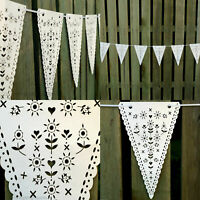 Wedding Hanging Decorations Vintage Banner Bunting From Ceiling Reception
