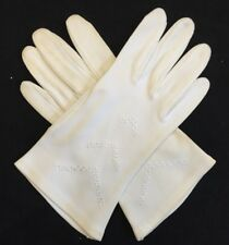 Ladies Womens Wear-Right Wrist Length Cotton Gloves Embroidered W. Germany 3646B