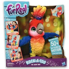 FurReal Rock-A-Too The Show Bird Interactive Pet Responds w/ 50+ Sounds Motions