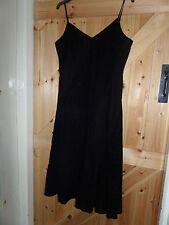 """Très jolie robe noire par Per Una m&s taille 14 Long Tour De Poitrine 38"""" Appliques Motif"""