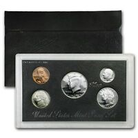 1996 US MINT SILVER PROOF SET - BOX, COA , 5 COINS