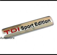 TDI Sport Edition Badge Emblem Logo Decal Sticker Boot Rear Tailgate Trunk New
