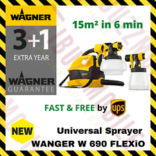 Wagner Universal W 690 FLEXiO Paint Sprayer 630W Walls Wood Metal Fence Ceiling