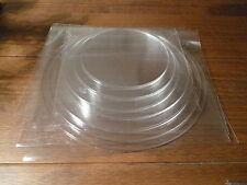 """Round Ganaching Plate Set Acrylic Cake Decorating Discs 4.00"""" - 10.75"""" HUGE SET"""