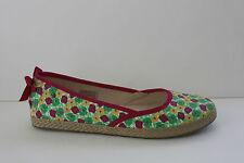 Ugg Girls Sandals Size 6 M Floral Pink Canvas Flat Sandal Shoes NIB