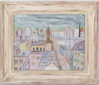 Jacob Chalfin Outsider Art Philadelphia Cityscape Painting Folk Art