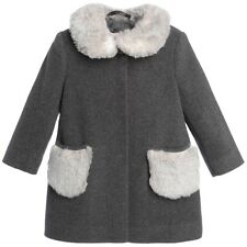 IL GUFO GREY WOOL AND CASHMERE BABY COAT 3 YEARS