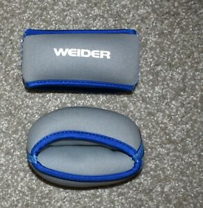 Weider 2lb fabric 2 lbs (set 2) Hand Weights gray and blue