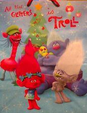 "Dreamworks Trolls Christmas Gift Bag ""All That Glitters is Troll"" 10""x 5.75""x13"""