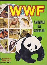 PANINI ALBUM FIGURINE WWF ANIMALI DA SALVARE