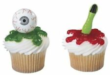 12 Eyeball & Witch Finger Cupcake Picks - Halloween party Bloody Body Part