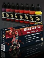 Scale 75, Red (Blood and Fire) Paint Set, Acrylic Paint, 8 Colors, 17ml bottles