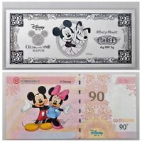 Celebrating Time 2015 PMG 70 China Disney 3 Grams of Colored Solid Silver