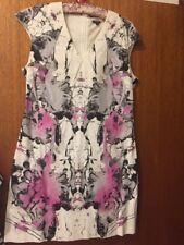 White, Black & Purple Full Circle (Asos) Dress Size 14
