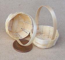 1:12 scala 2 handmade BAMBOO CESTI DOLLS HOUSE miniatura Accessorio SHOP (M)