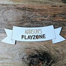 Personalised Wooden Bedroom Sign - Playzone Banner Style - Custom Banner Plaque