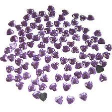 Rund Acryl-Strass-Steine zum Aufkleben rosa,pink,violett 12mm 65 St Ø7 9