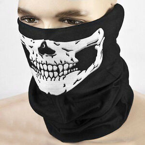 Skull Bandana Bike Neck Face Cover Reusable Helmet Headband Motorcycle Halloween