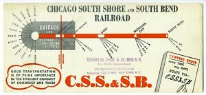 CHICAGO SOUTH SHORE & SOUTH BEND Railroad Blotter - 1950s