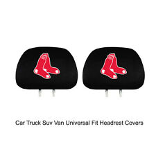 New Team ProMark MLB Boston Red Sox Head Rest Covers For Car Truck Suv Van