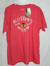 Old Time Hockey Chicago Blackhawks graphic T-Shirt Size XL FREE SHIPPING