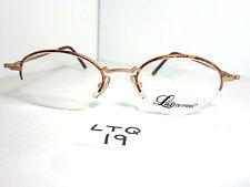 Vtg 90s Lux De Paris Half Rimless Eyeglass Frame Julie Tortoise 4 Round (Ltq-19)