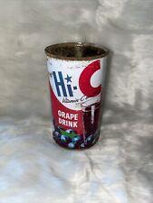 Hi-C Grape Fruit Drink 12oz Juice Soda Can