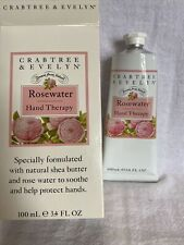 Crabtree & Evelyn Rosewater Hand Therapy 3.4 Oz. Nib