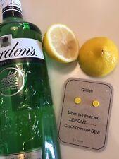 Gin Regalo cuando la vida te da limones pendientes de Plata Esterlina Personalizado comercial