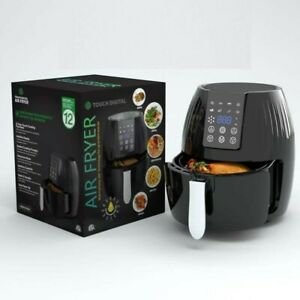 Air Fryer Friggitrice ad Aria Calda 5,5L Senza Olio LED Display Air Fryer
