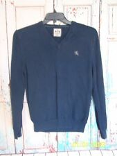 Mens Express M Blue V-Neck Sweater, Classic, Stylish