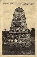 1916 Stempel Wünsdorf-Zossen auf Feldpost-AK 1. WK Denkmal gefallener Krieger