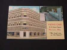 VIETH'S CAFE S.E. CORNER SQUARE NEVADA, MISSOURI POSTCARD