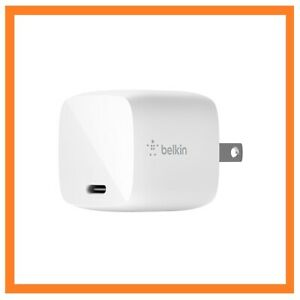 Belkin - Boost Charge USB-C® GaN Wall Charger 30W - White (WCH001dqWH)™