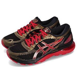 Asics Gel-Nimbus 21 Black Classic Red Women Running Shoes Sneakers 1012A235-001