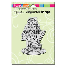 Stampendous Cling Rubber Stamp May The Fork