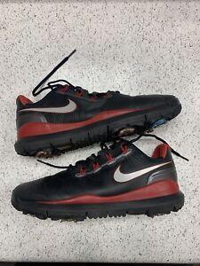 Nike TW'14 Tiger Woods Golf Shoes Black/Varsity Red/Grey US 9 [599416-001]