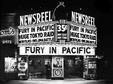 Theater Marquee WW II Movies Fury In Pacific 35cents any seat  8 x 10 Photograph